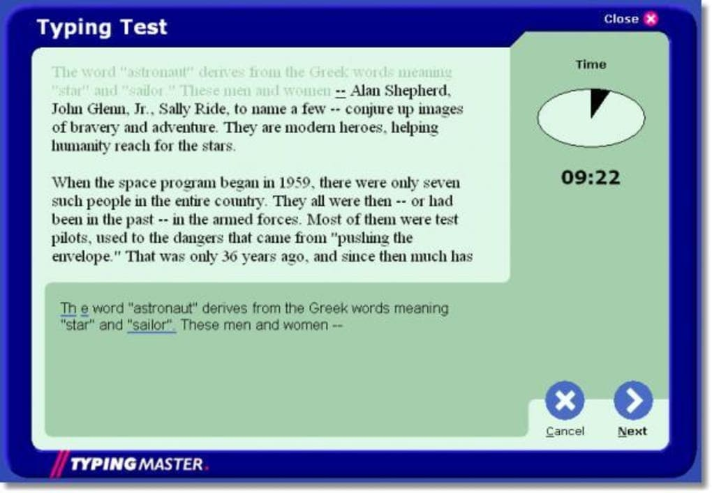 What Is A Typing Master 2002?